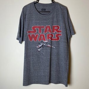 Star Wars X-Wing Men's XL T-Shirt Gray